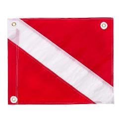 "IST Nylon ""Diver-Down""  Dive Flag with Metal Grommets"