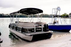 2 Hour - 24' Bentley Pontoon w/ Double Bimini
