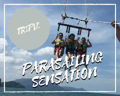 Parasailing Sensation Triple Flyer