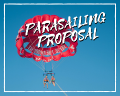 Private Parasailing Wedding Proposal Premier