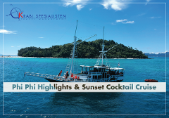 Phi Phi Highlights and Sunset Cruise by Indonesian Phinisi Boat Freedom