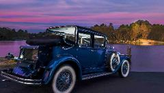 Valentine's Day Vintage Cadillac Love Tour with a rose. Upper Blue Mountains only. Sunday, February 14.