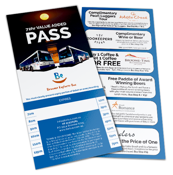 Broome Explorer Bus - 72 hr Value Added Pass