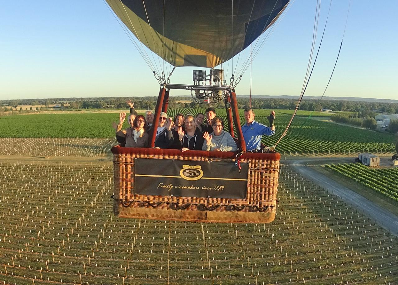 Brown Brothers King Valley Balloon Flight