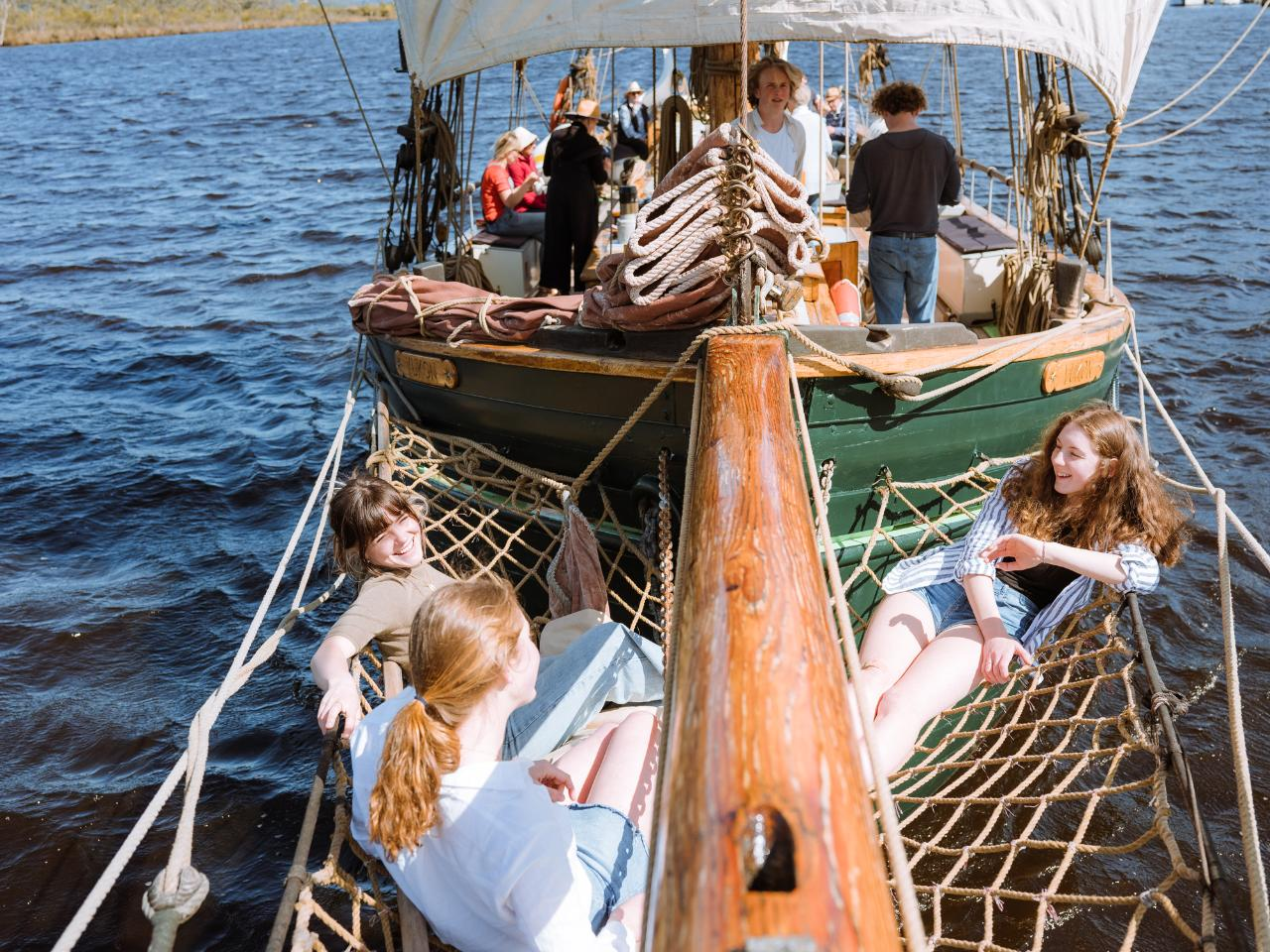 The Mini Wooden Boat Festival 2021 Franklin - Hobart. 3 days cruising + Parade of Sail + Fireworks