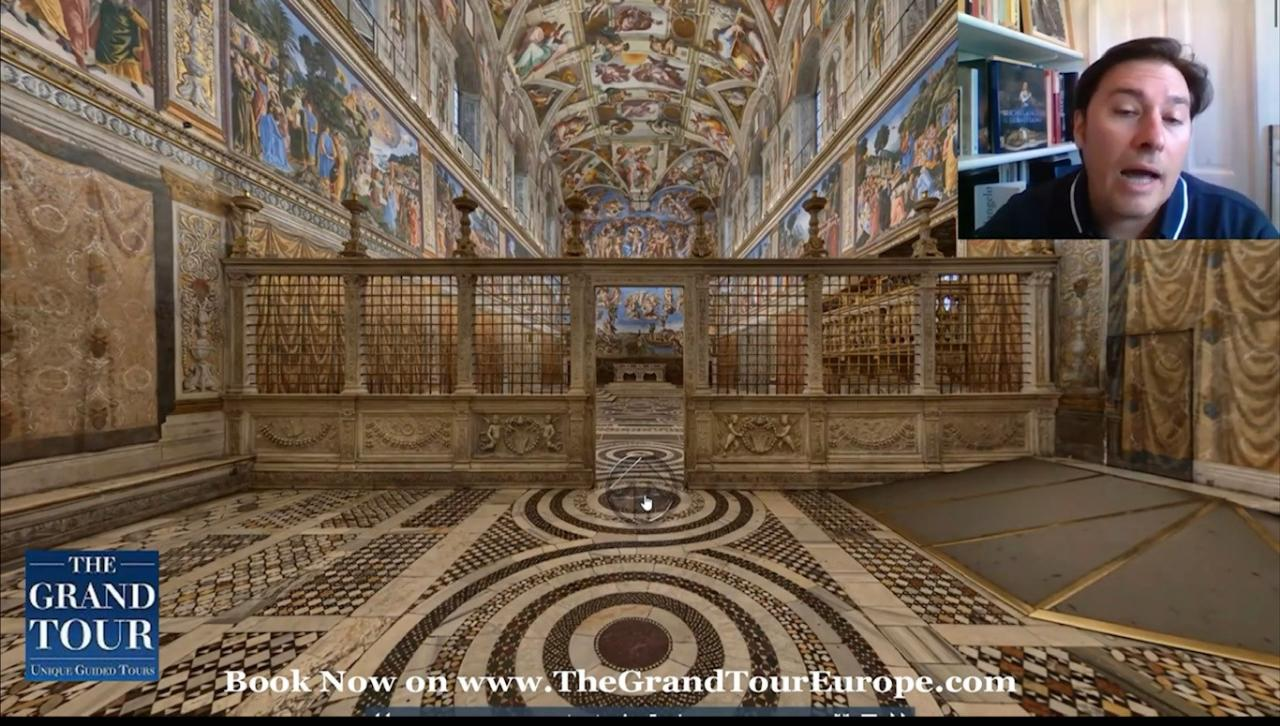 Virtual Guided Tour - The Secrets of the Sistine Chapel - Live Show - FREE
