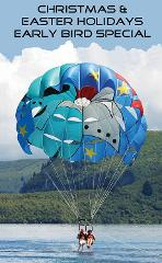 Early Bird Discounted Parasail Flights  9 & 10 AM / Christmas & Easter Holidays