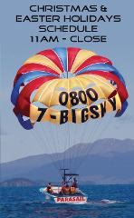 Parasail Flights 11 AM till close  /  Christmas & Easter Holidays