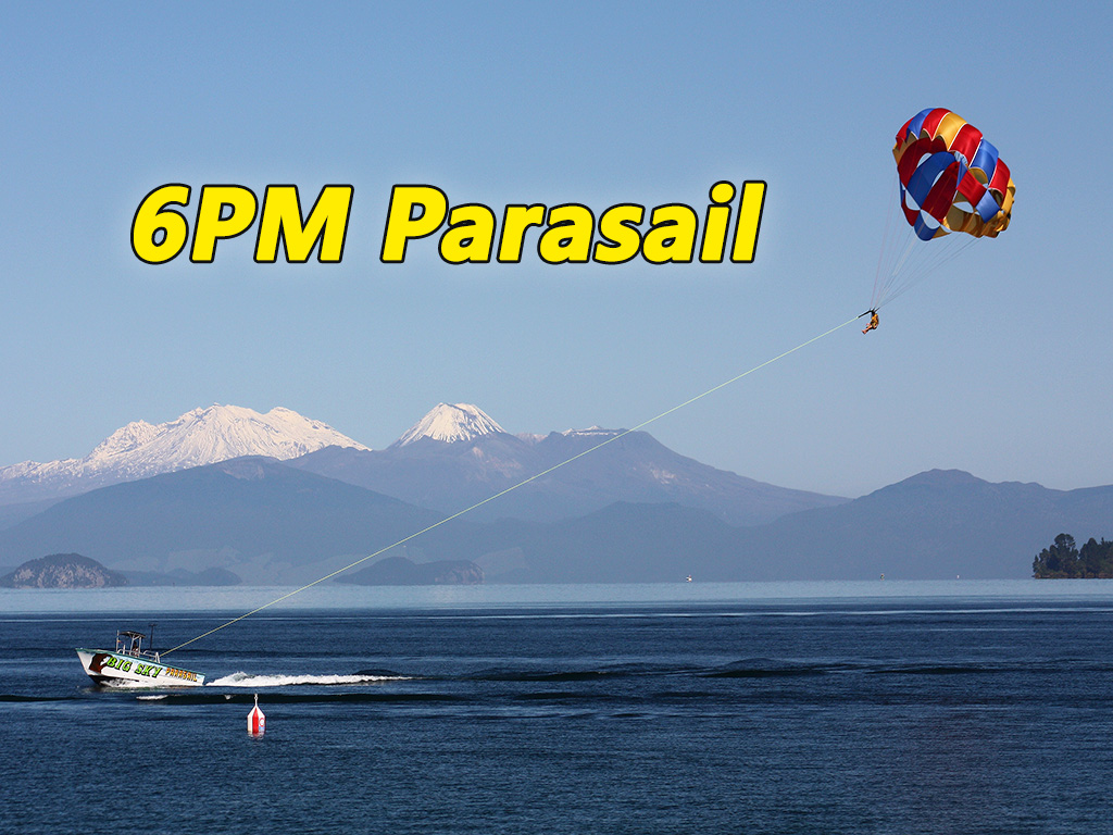 Parasail Flights  6 PM