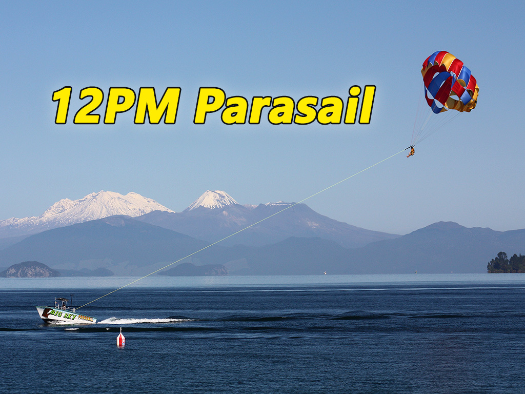 "12:00 PM Parasail Flights - ""Big Sky"""
