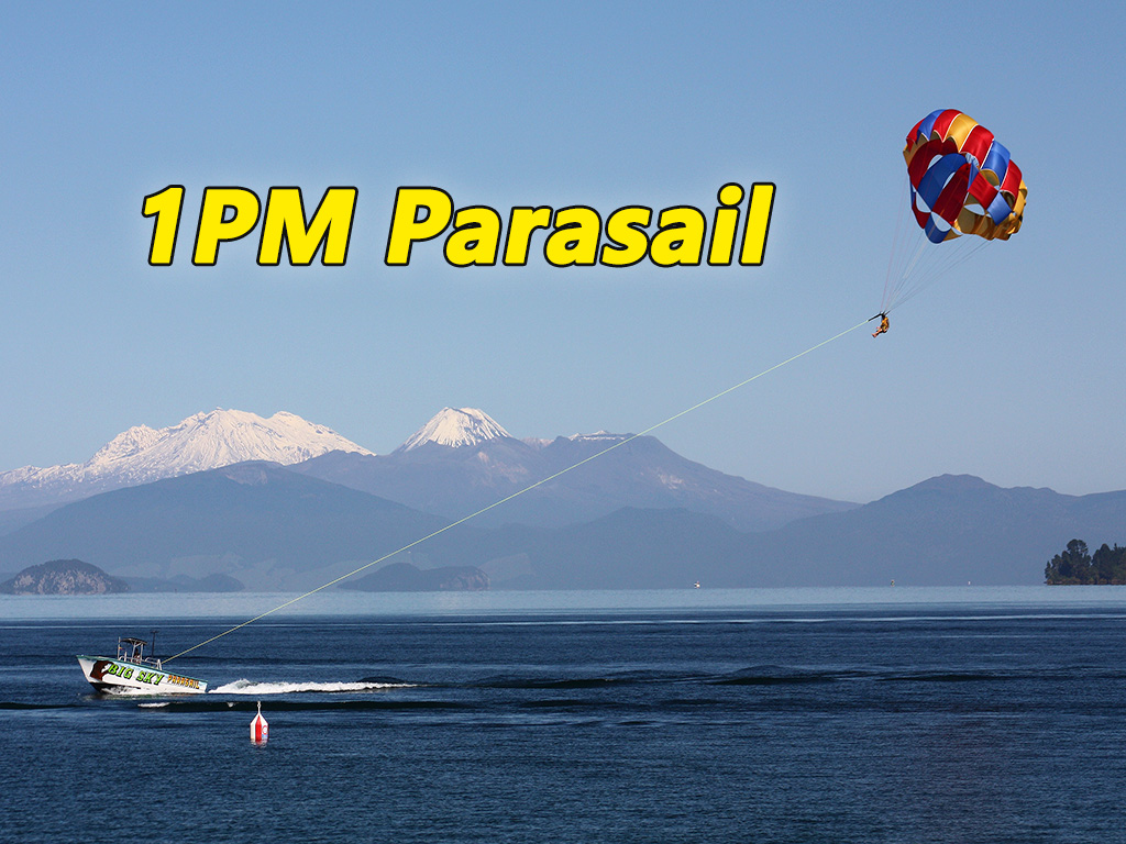 "1:00 PM Parasail Flights - ""Big Sky"""