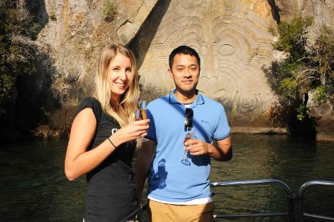 Daily Scenic Summer Cocktail Cruise to the Maori Rock Carvings 5.00pm