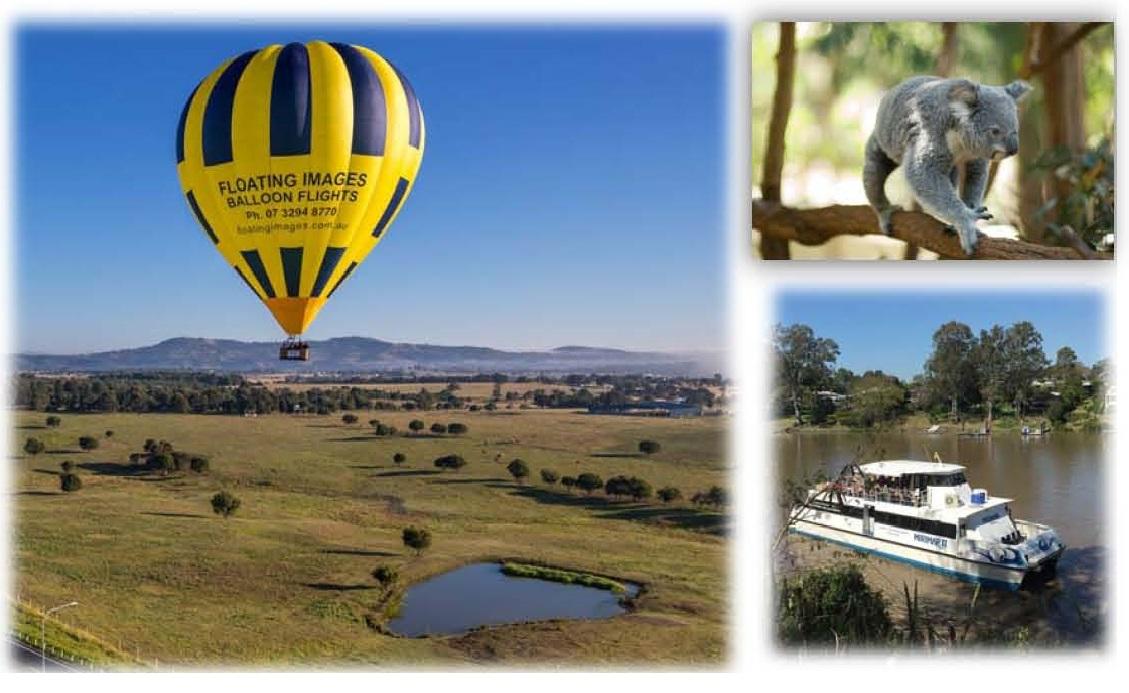 6. Greater Brisbane Ballooning, Koalas & Cruising Package