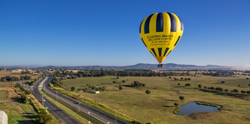 1-Day Greater Brisbane Scenic Hot Air Balloon Flight Package - 1 HOUR of Flight & Self Drive