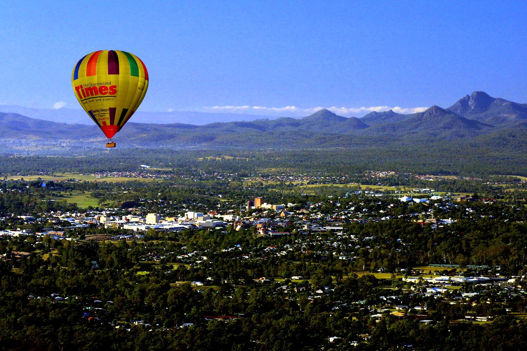 2. Greater Brisbane Scenic Hot Air Balloon Flight Only - 1 Hour Flight, No Breakfast & Self Drive