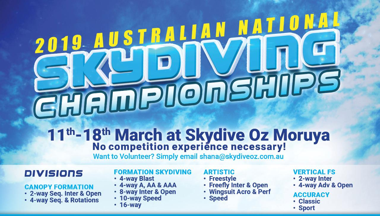 2019 Australian National Skydiving Championships Registration