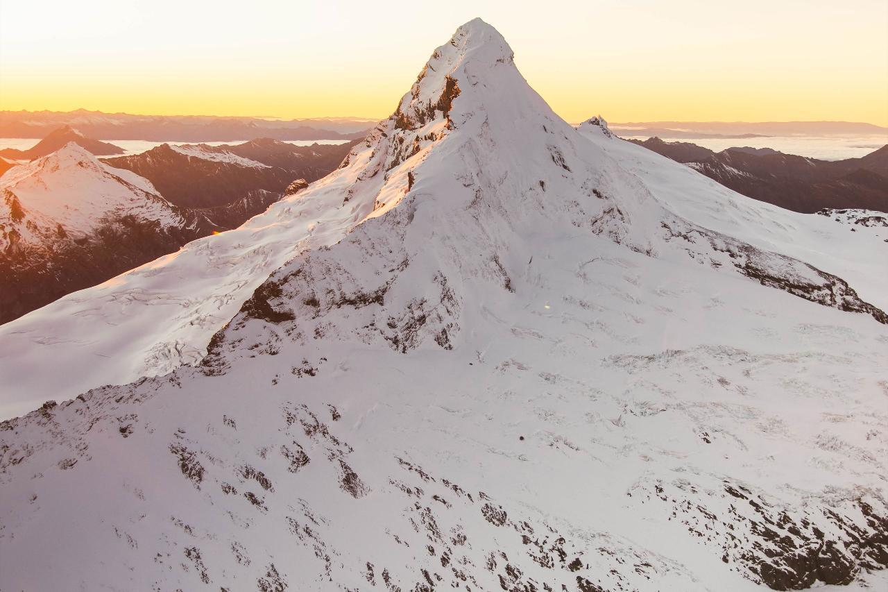 Sunrise Mt. Aspiring + The Glaciers
