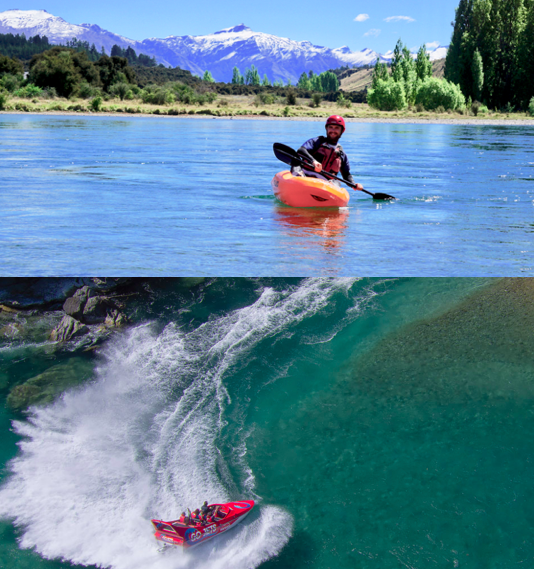River Kayak & Jet Boat Combo