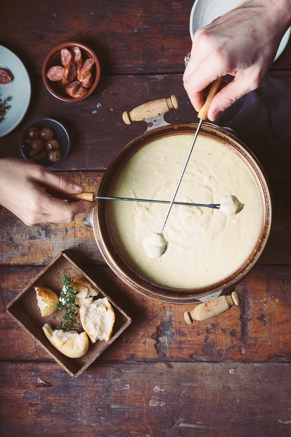 Udder Delights Cheese Fondue