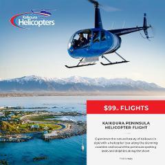 Kaikoura Peninsula Helicopter Flight