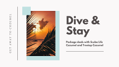 Stay & Dive Package for 2 Divers ( 2 Boat Dives per Day)