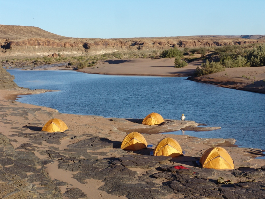 Barbecue and Camping by Niger River and Sand Dunes