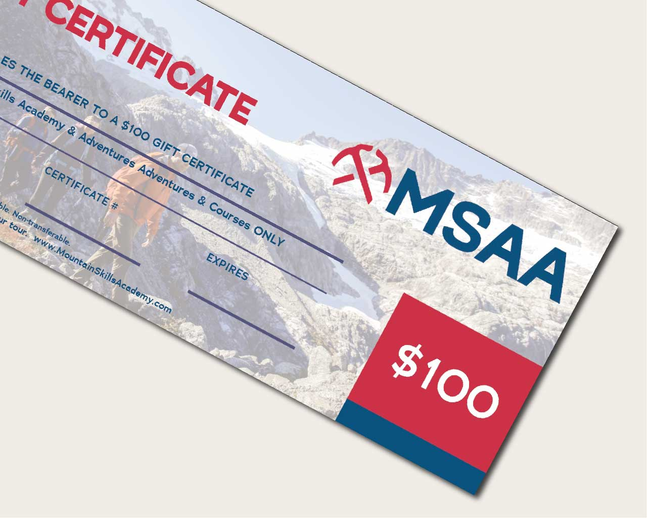 Gift Certificate $100CAD