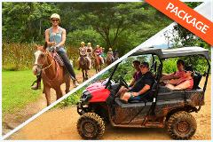 HORSEBACK RIDING + WATERFALLS + 2 HRS QUADRUPLE BUGGY COMBO