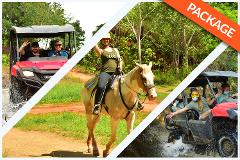 HORSEBACK RIDING + WATERFALLS + 2 HRS TRIPLE BUGGY COMBO