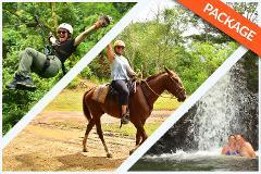 ZIP LINE +HORSEBACK + WATERFALLS COMBO
