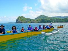 OUTRIGGER CANOE AND SNORKELING NEAR JACO BEACH AND LOS SUENOS