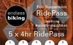 Ride Pass - 2019 - Full Suspension 5 x 4hr Rides