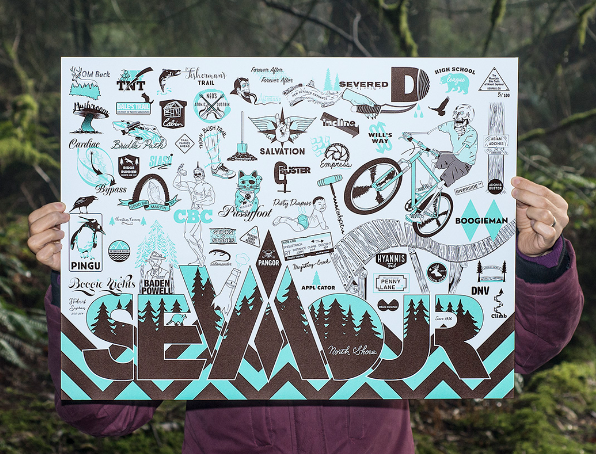 Mount Seymour Trails Poster