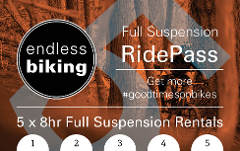 Ride Pass - 2019 - Full Suspension 5 x 8hr Rides