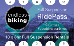 Ride Pass - 2019 - Full Suspension 10 x 8hr Rides