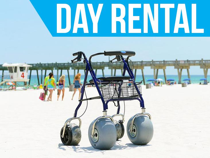 (Day Rental) Beach Rollator