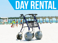 (Day Rental) Beach Rollator