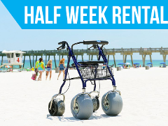(Half Week Rental) Beach Rollator