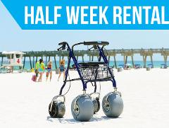 (Half Week Rental) Beach Rollator