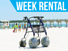 (Week Rental) Beach Rollator
