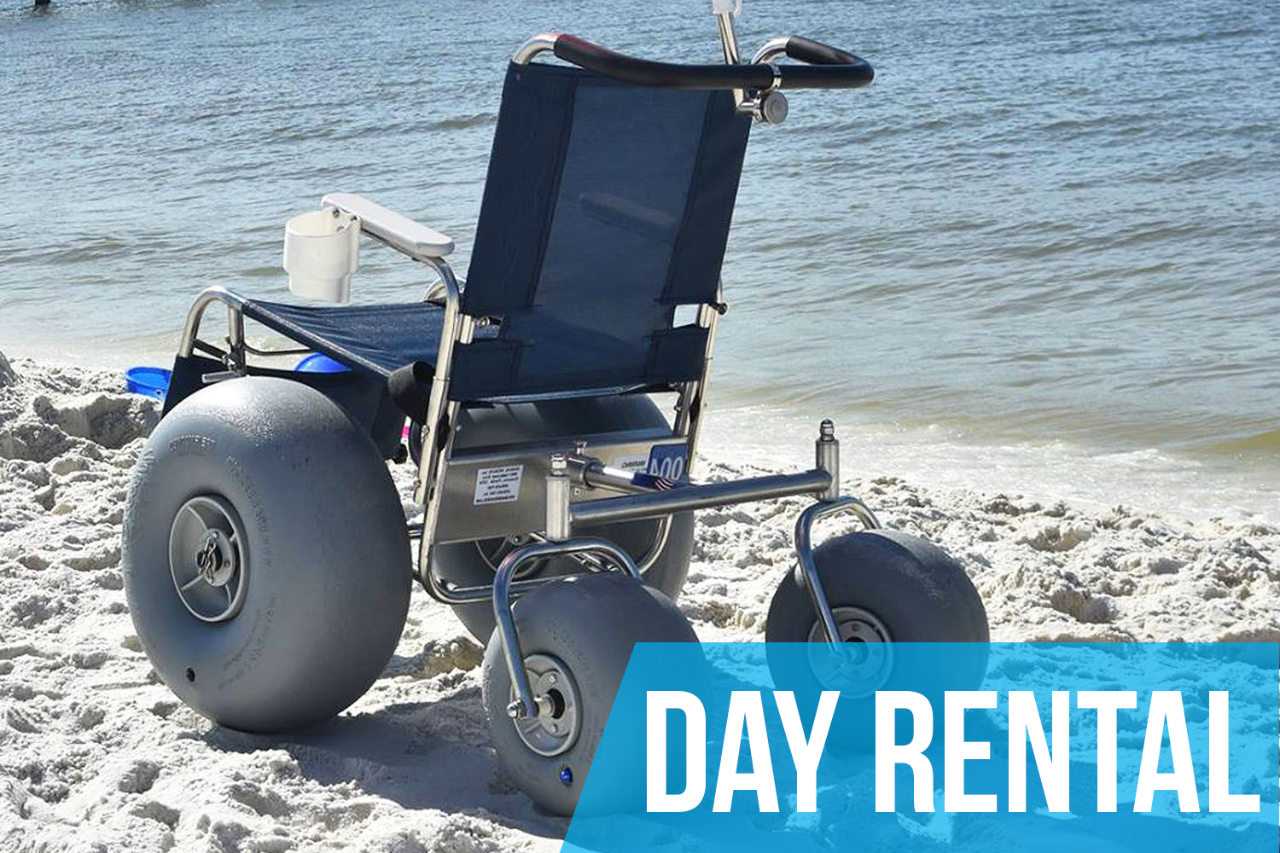 (Day Rental) De-Bug Beach Wheelchair