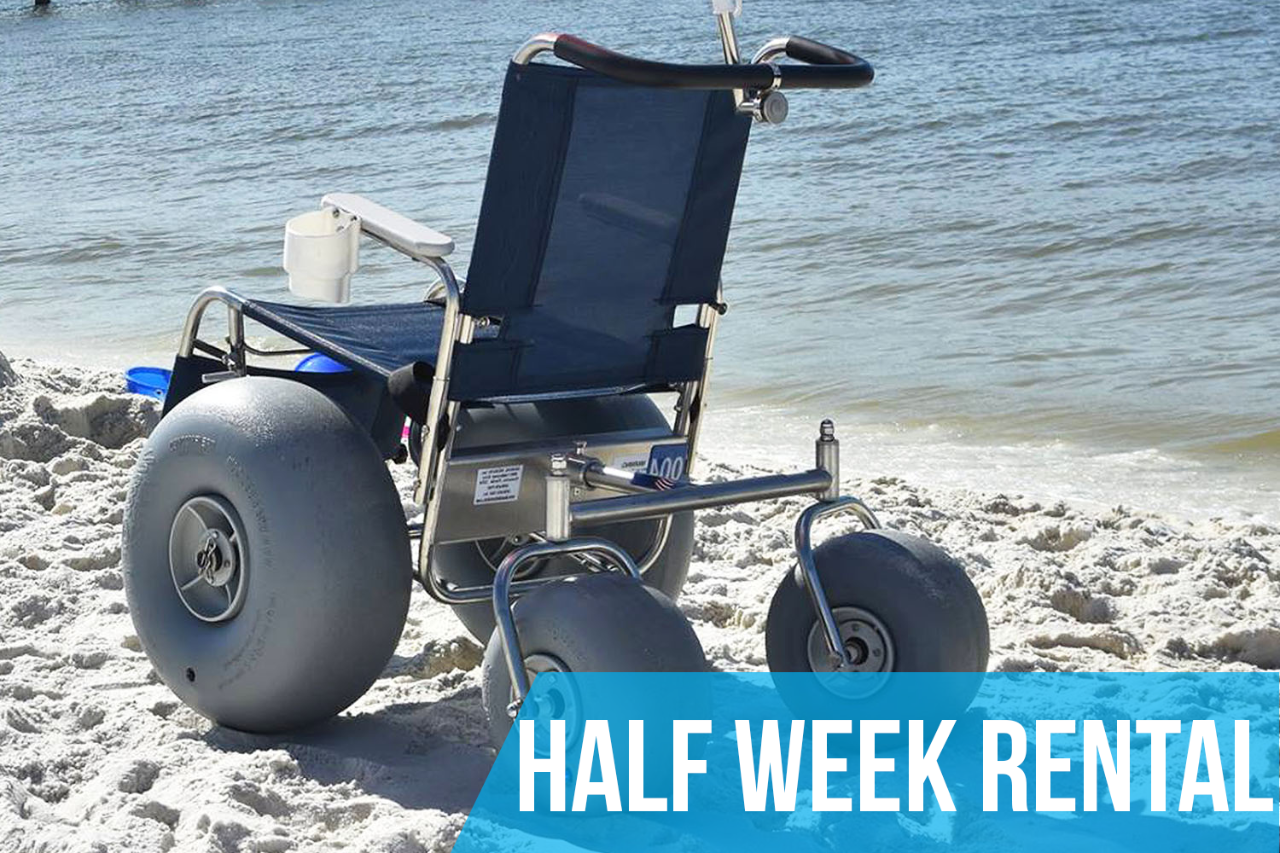 (Half Week Rental) De-Bug Beach Wheelchair