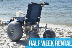 (Half Week Rental) De-Bug Beach Wheelchair