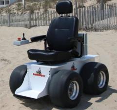 (5-7 Day Rental) Sandhelper Electric Beach Wheelchair