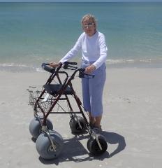 2 Day Rental Beach Rollator