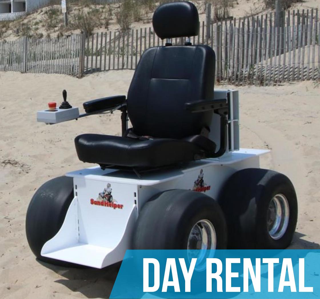 (Day Rental) Sandhelper Electric Beach Wheelchair