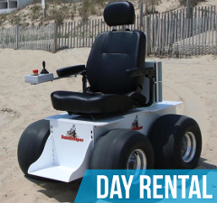 (Day Rental) Sandhelper Motorized Beach Wheelchair