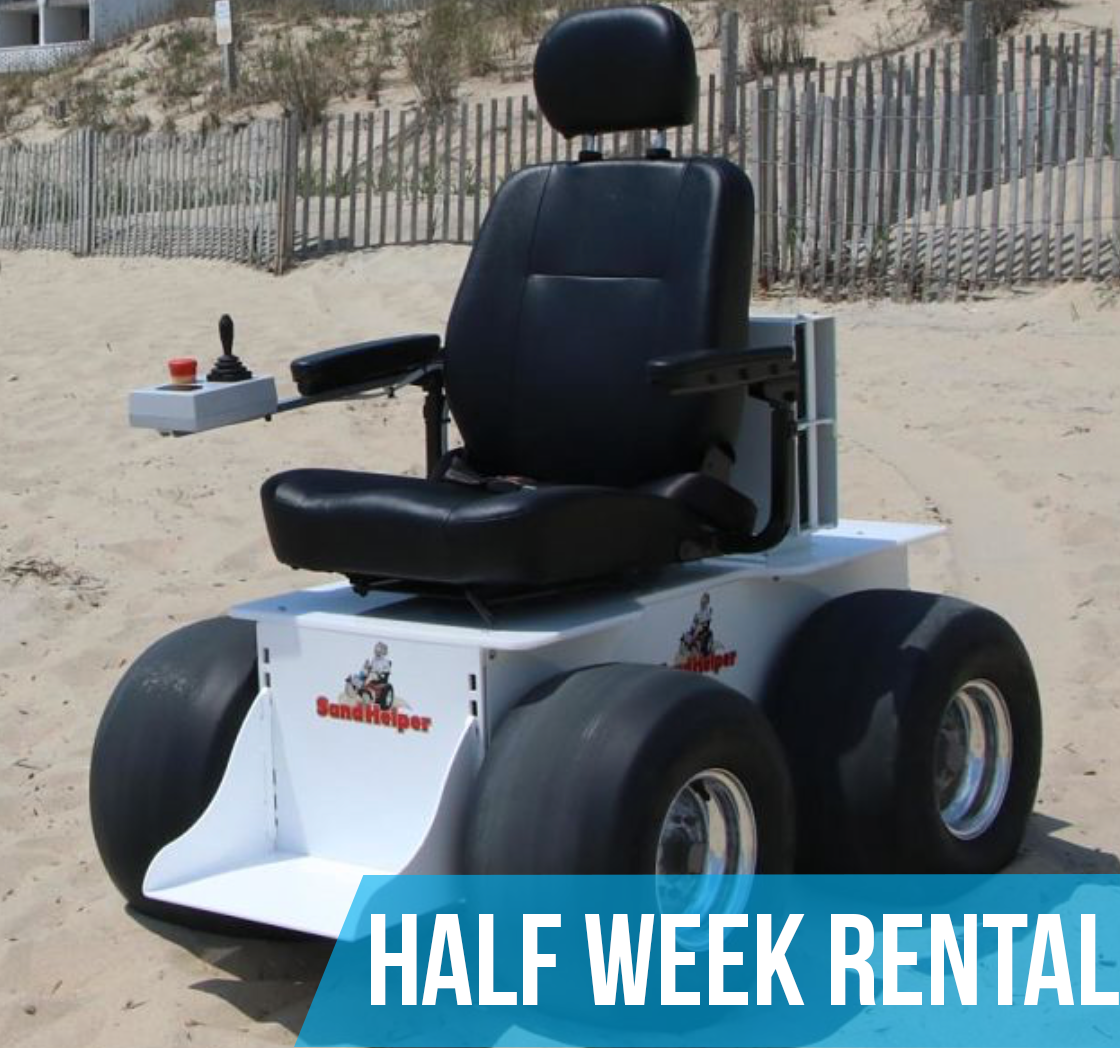 (Half Week Rental) Sandhelper Electric Beach Wheelchair