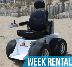 (Week Rental) Sandhelper Electric Beach Wheelchair