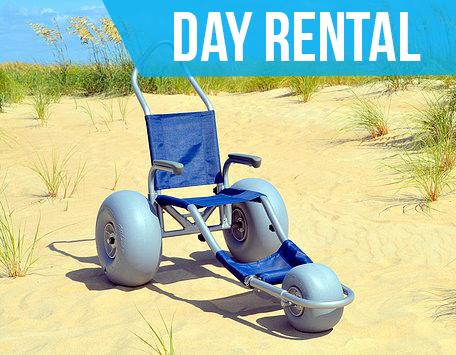 (Day Rental) Sandrider Beach Wheelchair